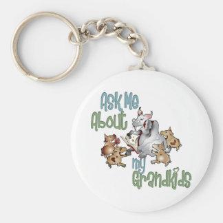 Goat Grand Kids - Grandma Basic Round Button Keychain