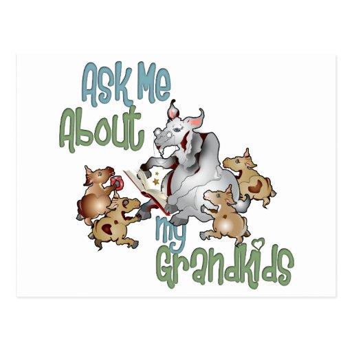 Goat Grand Kids - Grandma Postcard
