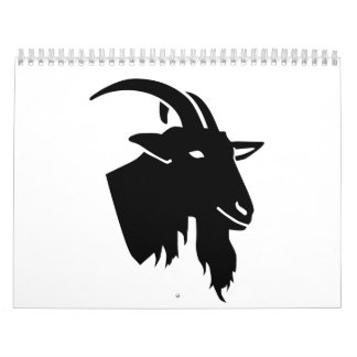Goat head wall calendar