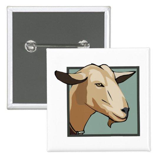Goat Head Pinback Button