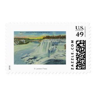 Goat Island View of American Falls in Winter Stamp
