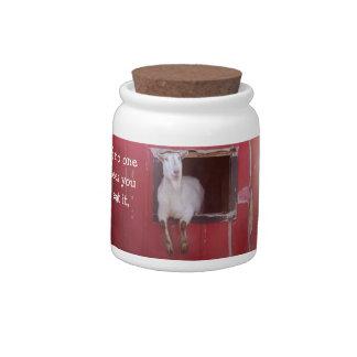 Goat Joke Candy Jar