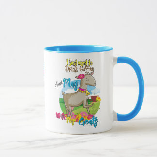 GOAT | Just Want to Drink Coffee Play With Goats Mug