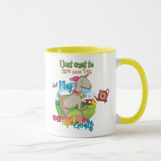 GOAT | Just Want to Have Some Tea Play With Goats Mug