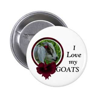Goat Kid & bow- personalize Button