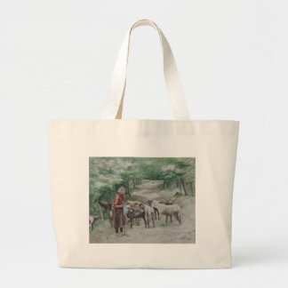Goat Lady, Ravna Gora Tote Bags