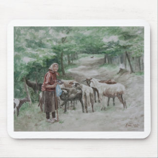 Goat Lady, Ravna Gora Mouse Pad