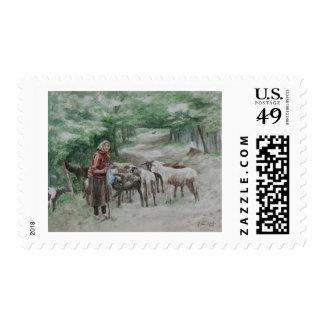 Goat Lady, Ravna Gora Stamp