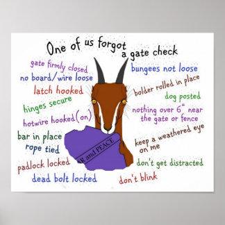 goat, lamancha, escape trouble print
