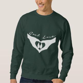 Goat Love  Heart Hands Holding Hoof Sweatshirt