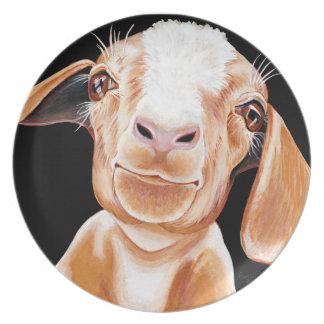 Goat Love Melamine Plate