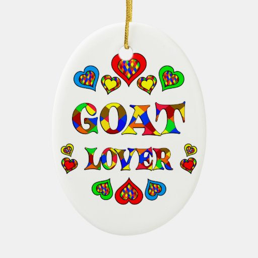 Goat Lover Double-Sided Oval Ceramic Christmas Ornament