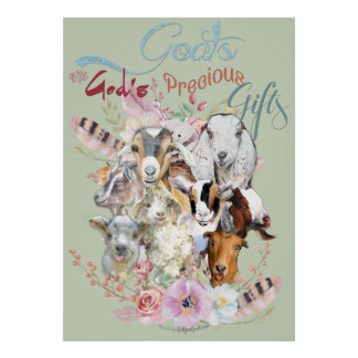 GOAT LOVER | God's Precious Gifts GetYerGoat™ Poster