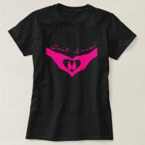 GOAT LOVER |  Heart Hands Holding Goat Hoof Pink T-Shirt