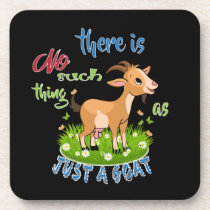 GOAT Lover | Just a Goat GetYerGoat™ Beverage Coaster