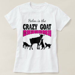 GOAT Lover | Personalized Crazy Goat Grandma T-Shirt