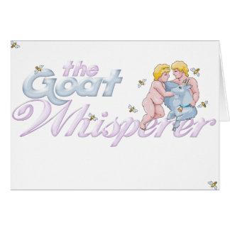 Goat Lovers Gifts Goat Whisperer Card
