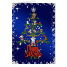 GOAT LOVERS Xmas Gift | Merry Christmas Goat TREE Card