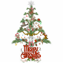 GOAT LOVERS Xmas Gift | Merry Christmas Goat tree Cutout