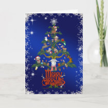 GOAT LOVERS Xmas Gift  | Merry Christmas Goat TREE Holiday Card