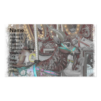 Goat Merry-Go-Round or Carousal Double-Sided Standard Business Cards (Pack Of 100)