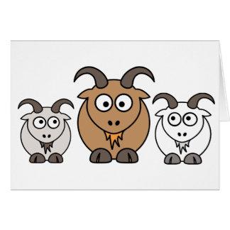 Goat Mix Greeting Card