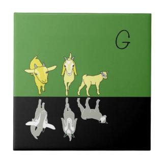 Goat Monogram Tile