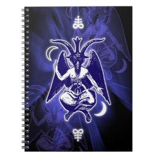 Goat of Mendes Baphomet & Satanic Crosses Notebook