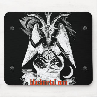 Goat of Mendes Black Mousepad