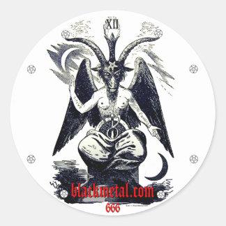 Goat of Mendes Round Sticker