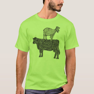 Goat on a Cow T-Shirt