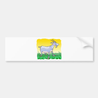 Goat On Grass Bumper Sticker
