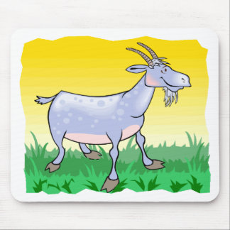 Goat On Grass Mouse Pad