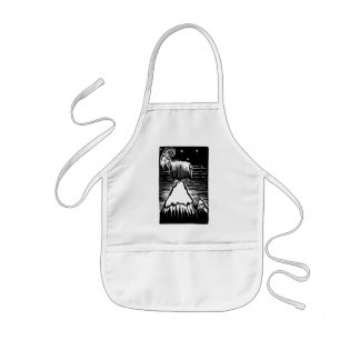 Goat on Mountain Kids' Apron