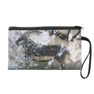 Goat or Chamois, rock painting in the Black Room, Wristlet Clutches