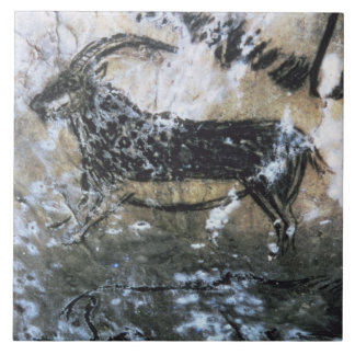 Goat or Chamois, rock painting in the Black Room, Ceramic Tile