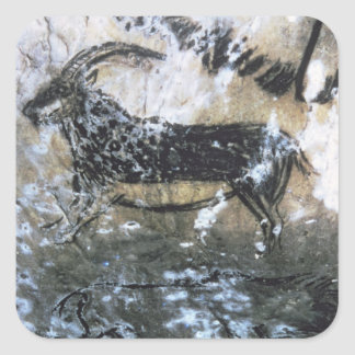 Goat or Chamois, rock painting in the Black Room, Square Stickers