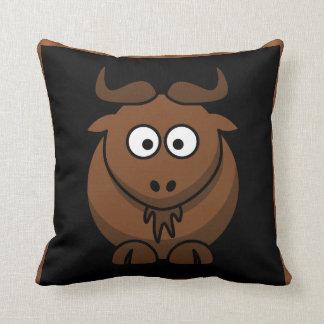 Goat or Gnu throw pillow