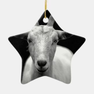 Goat Double-Sided Star Ceramic Christmas Ornament