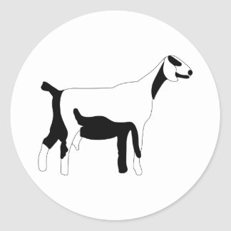 Goat Outline Classic Round Sticker