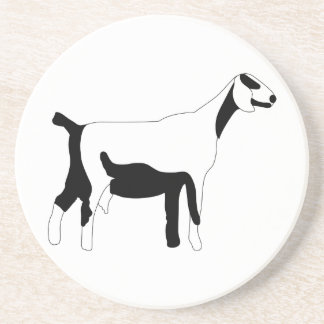 Goat Outline Drink Coaster