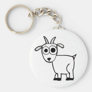 Goat Outline Keychain