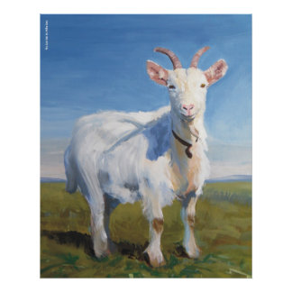 Goat Painting 'It's Just Me' by Mike Jory Poster