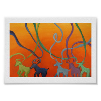 Goat Parade Poster