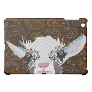 Goat Peek-A-Boo Paisley iPad Mini Case