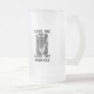 Goat Pet Farm Animal Love My  Goatee Dad Men 16 Oz Frosted Glass Beer Mug
