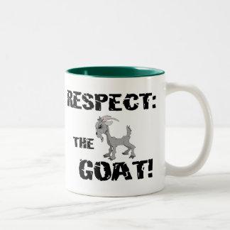 Goat Pet Farm Animal Respect Goat Husband Dad Two-Tone Coffee Mug