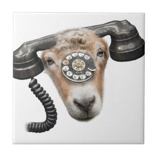 Goat Phone Call Head Tile