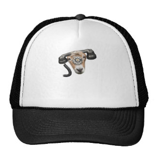 Goat Phone Call Head Trucker Hat