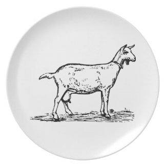 Goat Party Plate